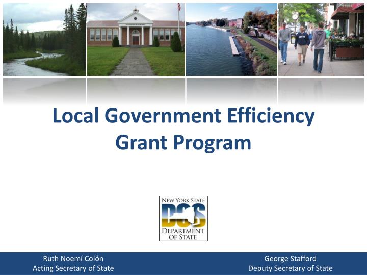 local government efficiency grant program n.