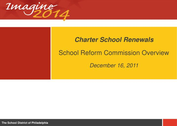 Charter School Renewals