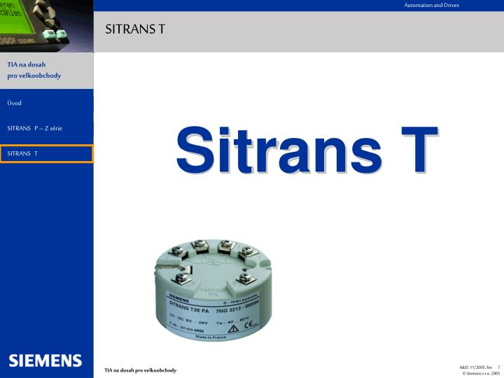 SITRANS T