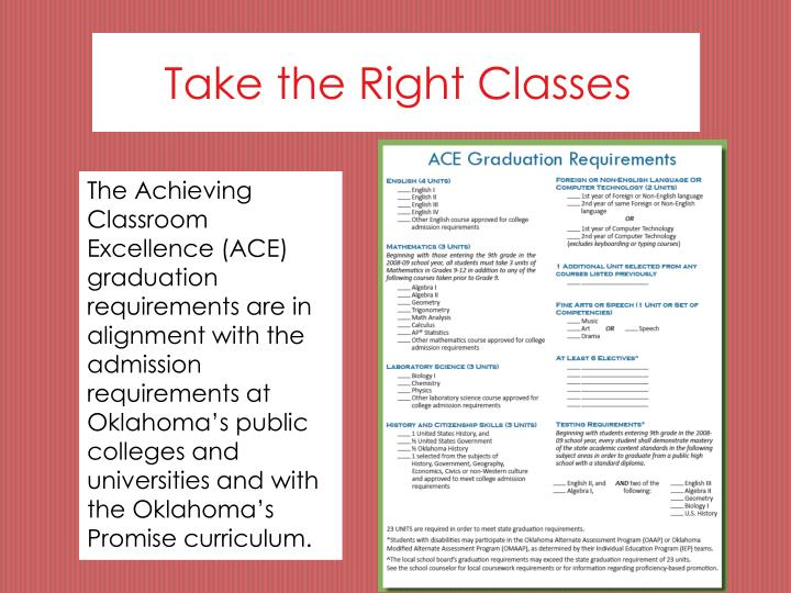 Take the Right Classes
