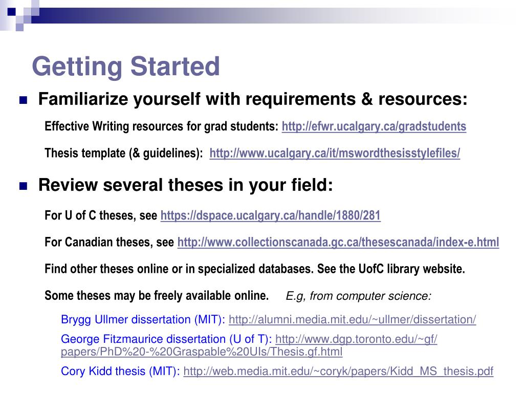 PPT - Effective Thesis Writing PowerPoint Presentation - ID