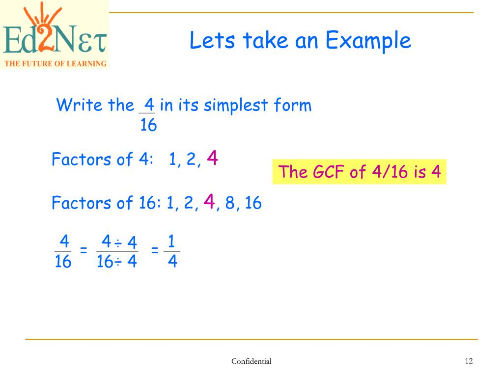 simplest form 4/16  PPT - Our Lesson PowerPoint Presentation, free download - ID ...