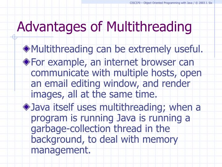 Advantages of Multithreading