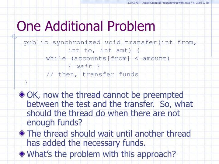 One Additional Problem