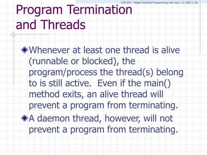 Program Termination