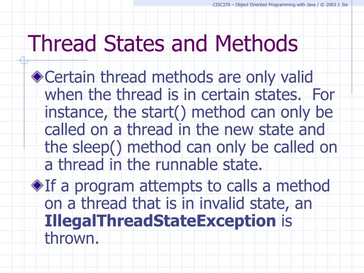 Thread States and Methods