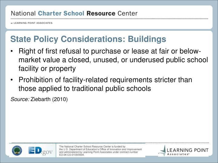 State Policy Considerations: Buildings
