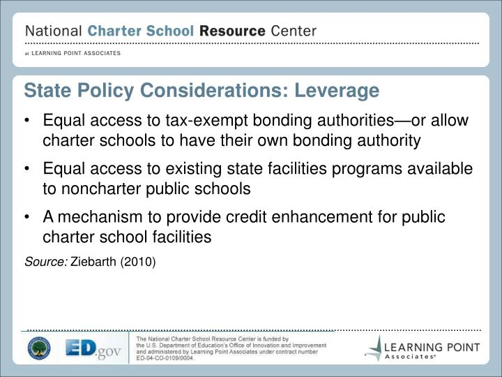 State Policy Considerations: Leverage