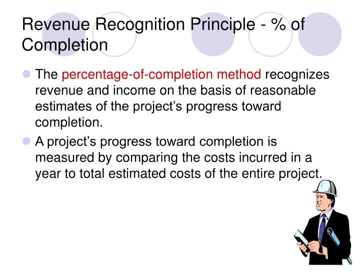Revenue Recognition Principle - % of Completion