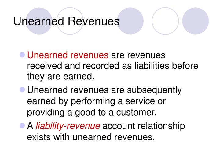 Unearned Revenues