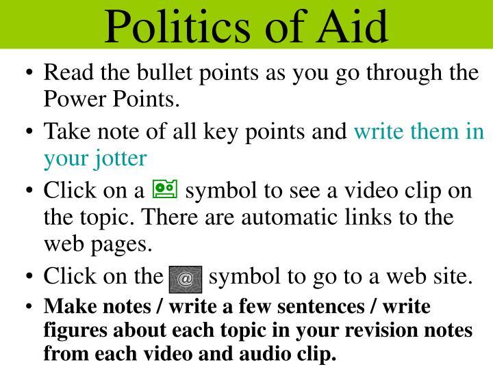 Politics of Aid