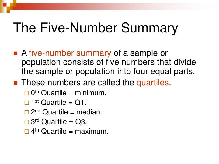The Five-Number Summary