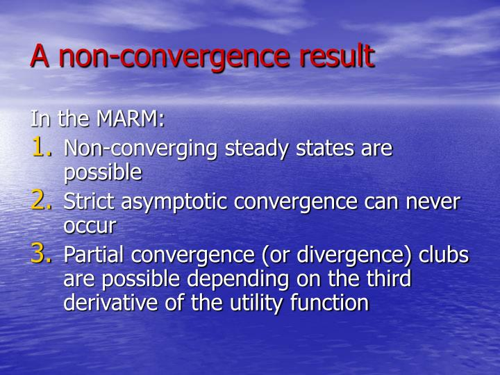 A non-convergence result
