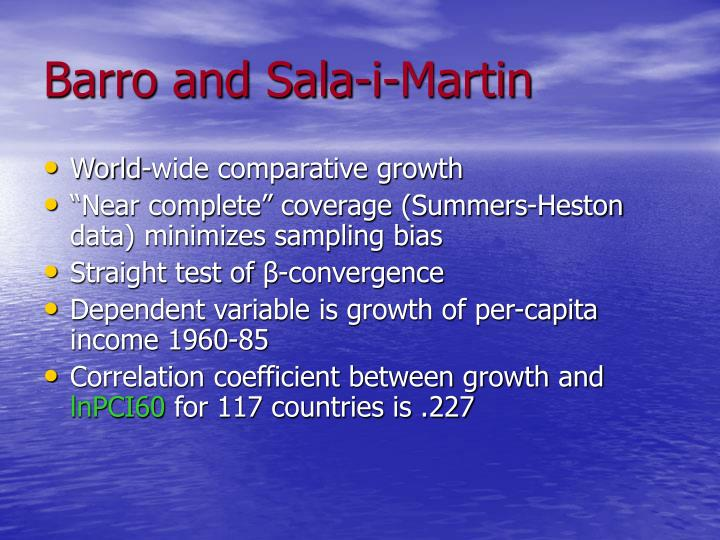 Barro and sala i martin