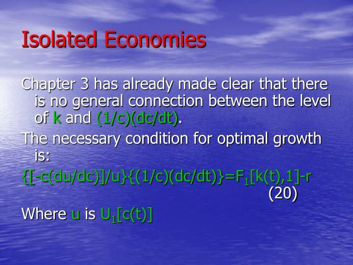 Isolated Economies
