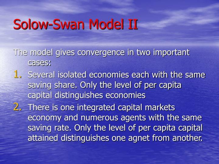 Solow-Swan Model II