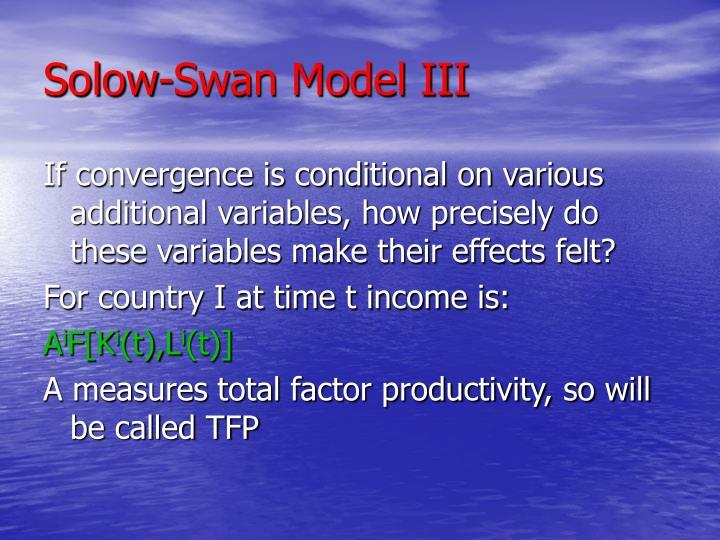 Solow-Swan Model III