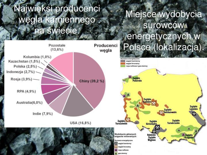 Najwięksi producenci węgla kamiennego na świecie.