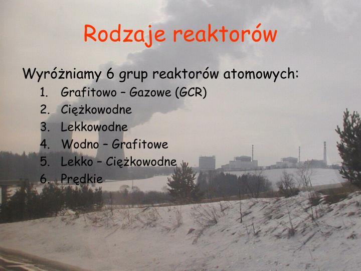 Rodzaje reaktorów