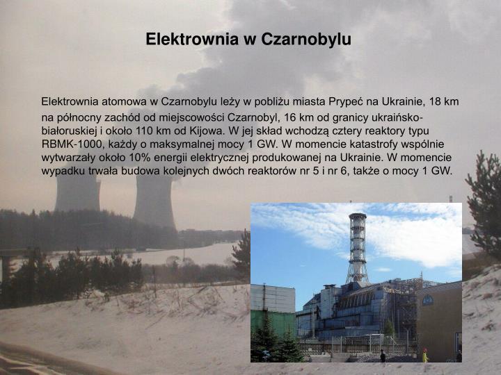Elektrownia w Czarnobylu