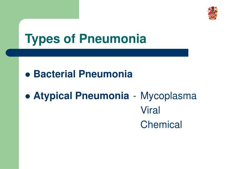 Types of pneumonia