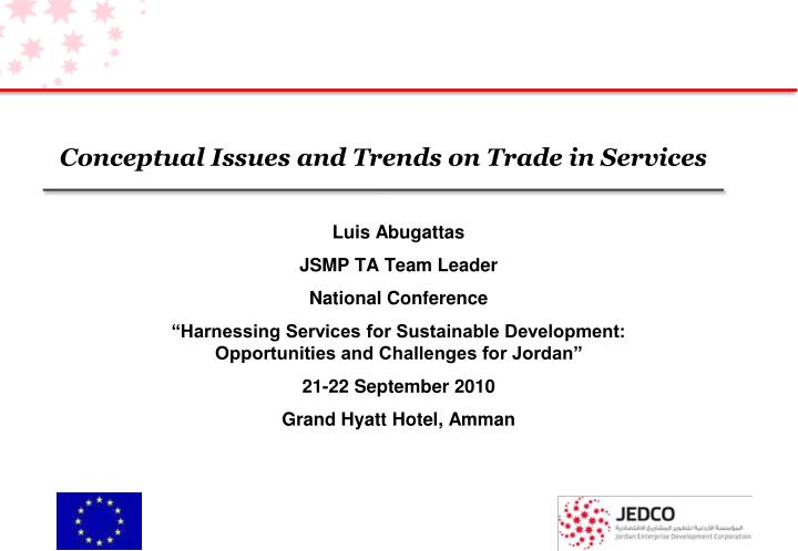conceptual issues and trends on trade in services n.