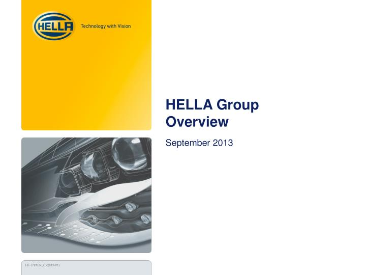 hella group overview n.