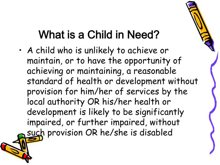 What is a Child in Need?