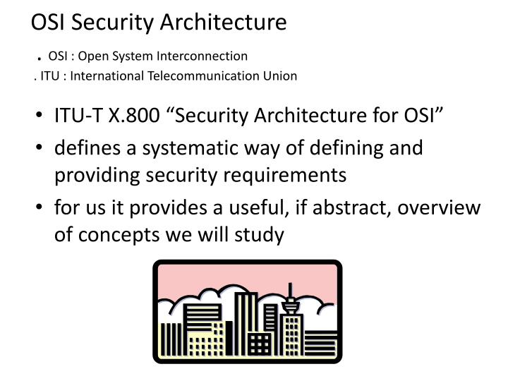 OSI Security Architecture