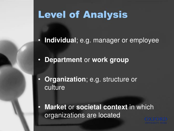 Level of Analysis