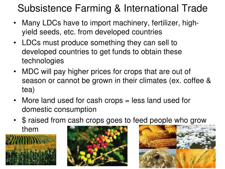 Subsistence farming international trade
