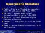 doporu en literatura