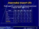 japonsk export ii