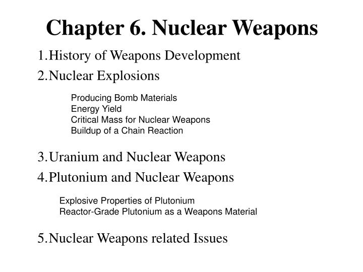 Chapter 6 nuclear weapons