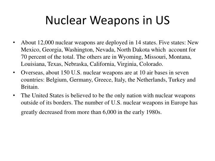 Nuclear Weapons in US