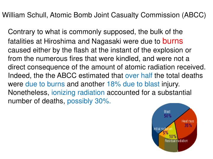 William Schull, Atomic Bomb Joint Casualty Commission (ABCC)