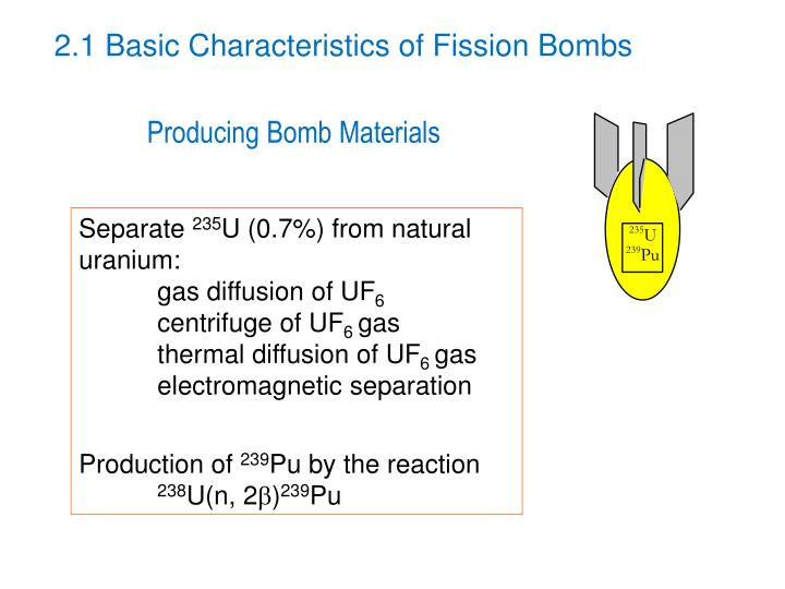 2.1 Basic Characteristics of Fission Bombs