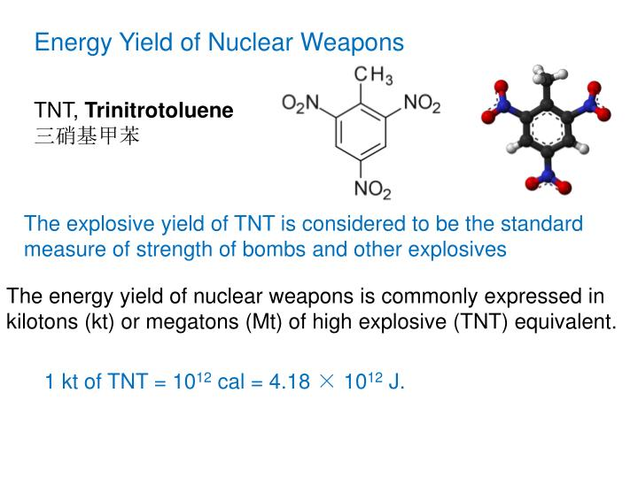 Energy Yield of Nuclear Weapons