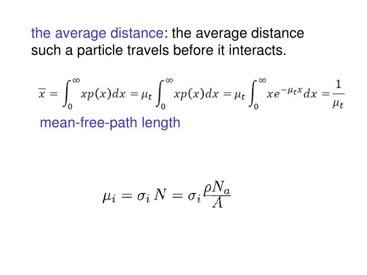 the average distance