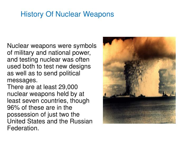 History Of Nuclear Weapons