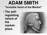adam smith invisible hand of the market
