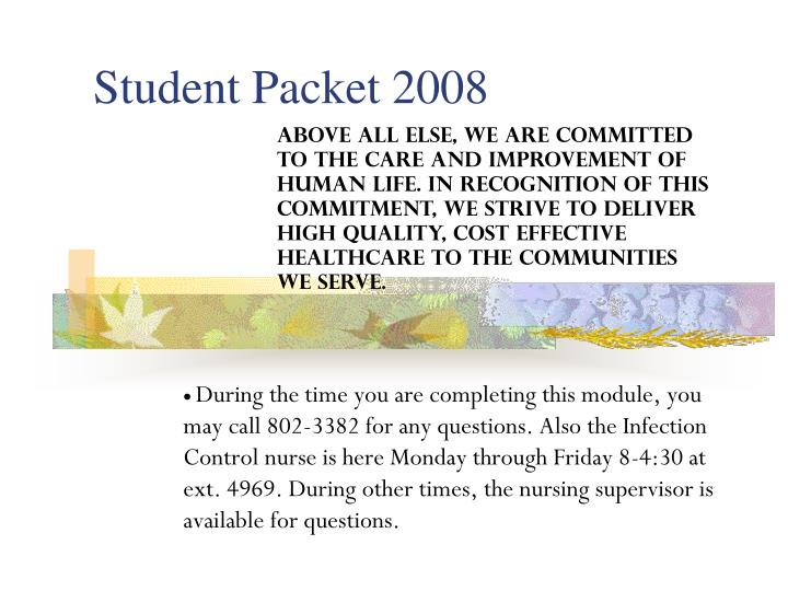 student packet 2008 n.
