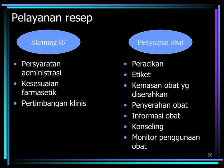 Pelayanan resep