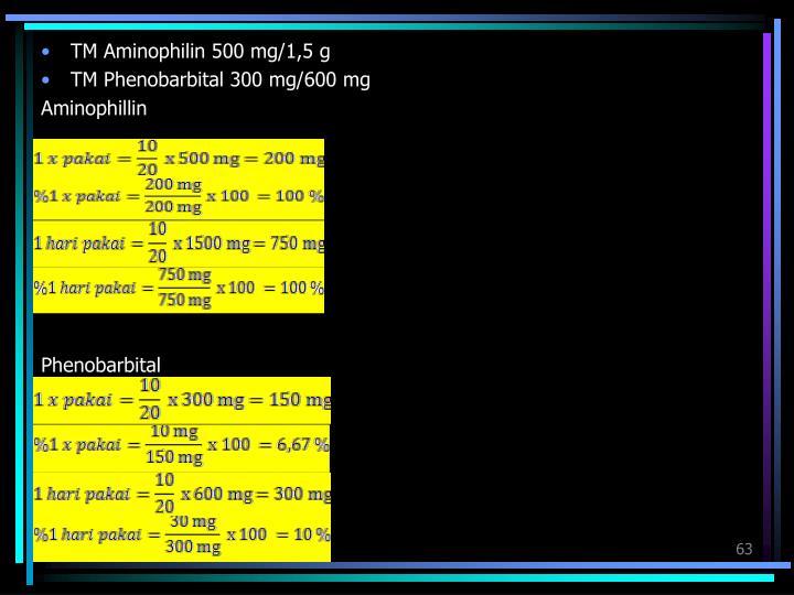 TM Aminophilin 500 mg/1,5 g