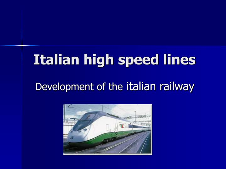 italian high speed lines