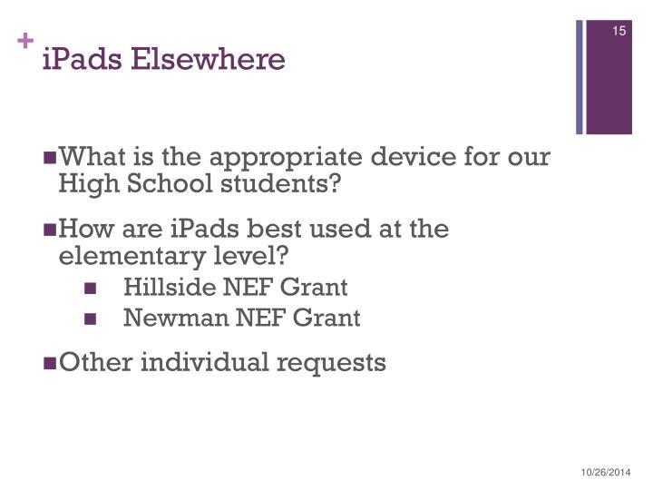 iPads Elsewhere