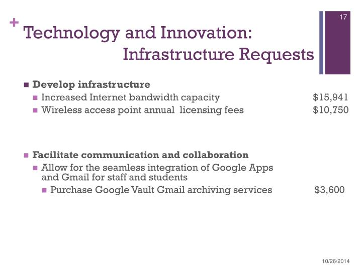 Technology and Innovation: