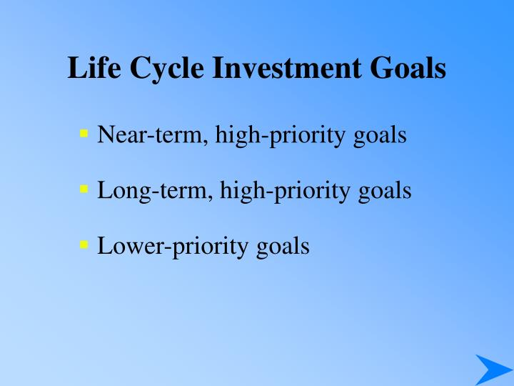 Life Cycle Investment Goals