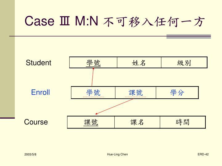 Case Ⅲ M:N