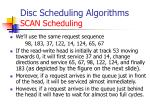 disc scheduling algorithms scan scheduling1